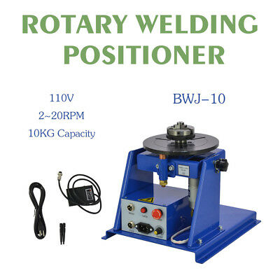 """110V New Rotary Welding Positioner Turntable Table Mini 2.5"""" 3 Jaw Lathe Chuck"""