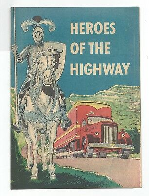 Heroes Of The Highway - American Trucking Assn. Giveaway Comic - 1952