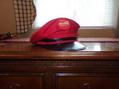 1980's COCA COLA ADVERTISEMENT  DELIVERY HAT CHILDS M SIZE