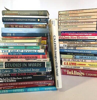 (Lot of 51) Books by or about C.S. Lewis - Christian - Narnia