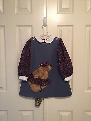 VTG - Chocolate Soup - Skirted Fuzzy Bear Jumper And Blouse - size 4-5