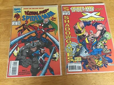 Spider-man-The Lethal Foes and Spider-man and X-Factor: lot of 2 - #1 each