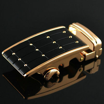 High Quality Mens Alloy Rachet Automatic Belt Buckle for Mens Leather Belt Gold
