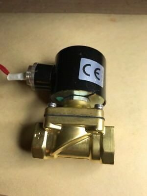 "1/2"" NPT 12V DC Brass Electric Solenoid Valve Water Air Gas Viton NC 12VDC"
