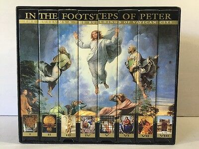 "Box Set 8 VHS Tapes ""In the footsteps of Peter"" Religious Museum Vatican"