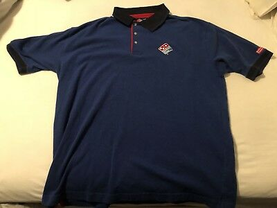 Vintage Dominos Pizza Employee Delivery Shirt XL Extra Large!