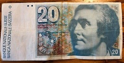 Switzerland Note 20 Francs 1982 P-55d