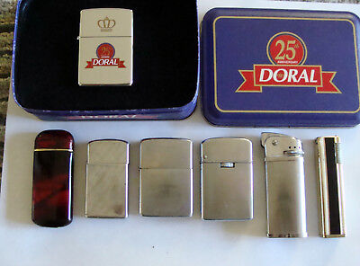Zippo Lighter's and Others Lot of 8 vintage