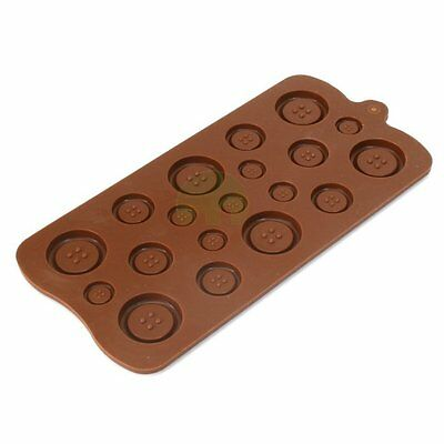 Button shape cake decorating fondant cookie chocolate silicone mold mould UK