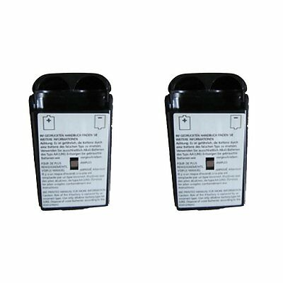 2x BLACK WIRELESS CONTROLLER AA BATTERY Case Clip for XBOX 360 Cover holder Pack