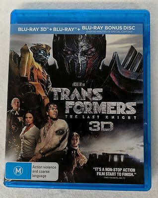 TRANSFORMERS: The Last Knight 3D + 2D BLU-RAY 3-Disc oz seller Michael Bay night