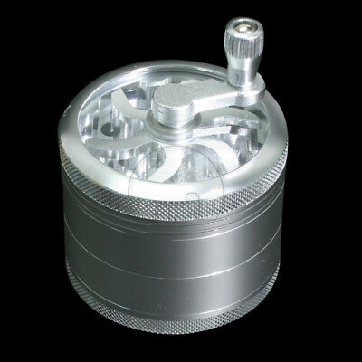 Latest 4-layer Aluminum Hand Crank Herbal Herb Tobacco Grinder Smoke Grinders