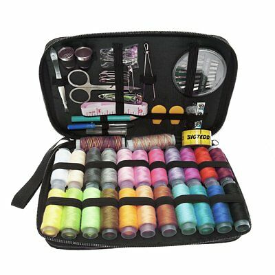 96pc Beginner Embroidery Sewing Kit Tools Travel Emergency Repair Sew Supplies