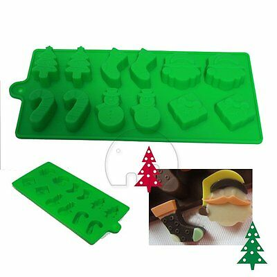 Christmas Gift Candy Cookies Cake Chocolate Baking Soap Ice Maker Silicone Mold