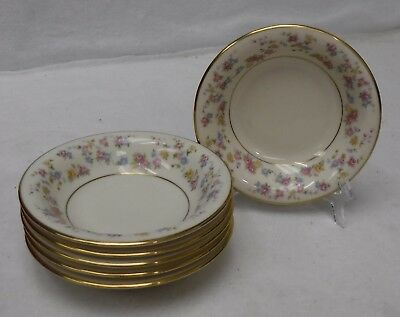 LAMBERTON china REVERIE pattern Set of 6 Fruit Dessert or Berry Bowls - 5-3/8""