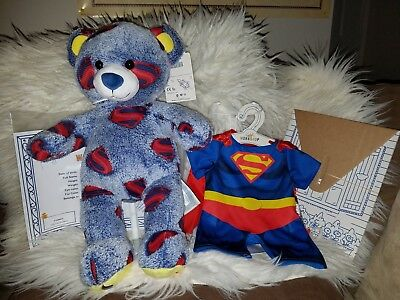 Build A Bear Superman Bear Retired w/sound box and Superman Costume NWT & BUILD A BEAR Justice League Superman Costume - £7.00 | PicClick UK