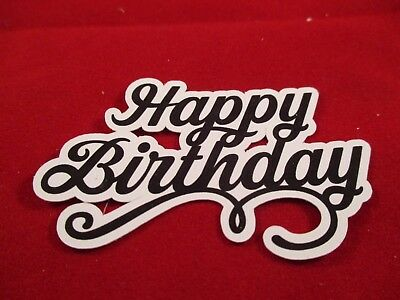 14 Printed Happy Birthday Sentiment Die Cuts...........cardmaking