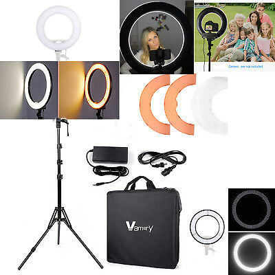 "Vamery 12"" LED Ring Light+2M Tripod Stand for Phone Selfie Camera Photography"