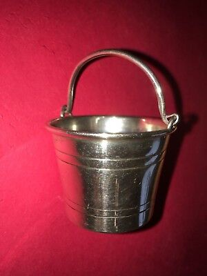 miniature sterling silver bucket ice pale