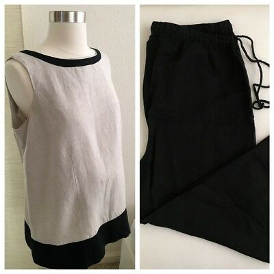 Motherhood Maternity 2 Piece Top & Cropped Pants Outfit Size M Medium
