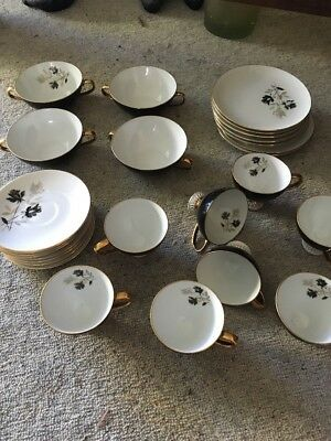 Vintage Westminster Australian gold rimmed fine China Plate Set 28 Pieces