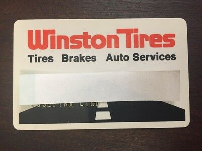 Vintage Winston Tires Credit Card Automotive Advertising Collectible