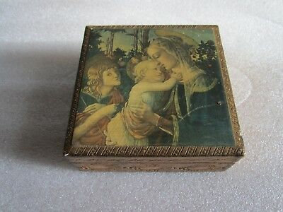 RARE Beautiful Original Antique 1800's American Folk Art Wood Box