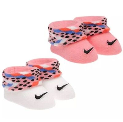 Nike Boxed Baby Girls Boys Clothes Gift Set Socks Booties Twin Pack  0-6month