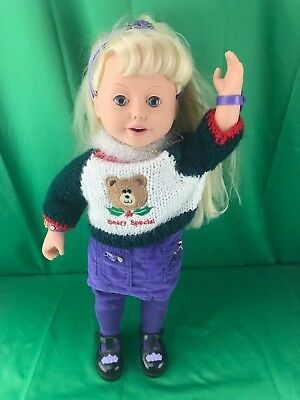 "Vintge 1999 Amazing Talking Interactive  ""ally"" 18""  Doll"