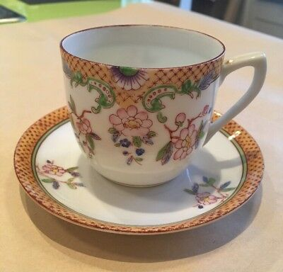 Vintage Chinese Porcelain Cup And Saucer