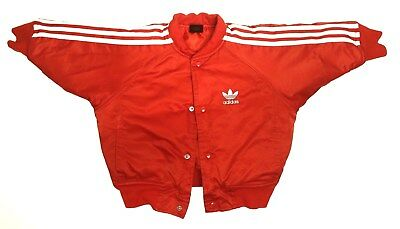 Adidas Baby Toddler Kids 12 Month Red White Puffy Snap Button Bomber Jacket