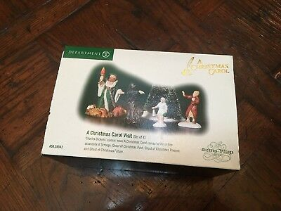 Department 56 A Christmas Carol Visit - Set of 4 - New in Box