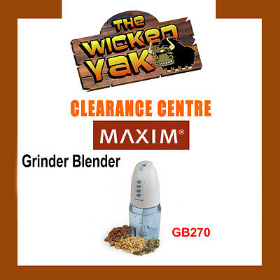 Maxim 2 Speed Grinder/Blender Herbs,Nuts Coffee Easy to Use GB270-NEW!