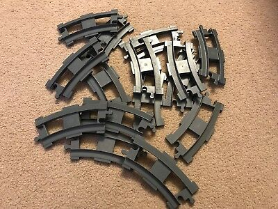 15 Curved Lego Duplo Train Tracks Dark Gray