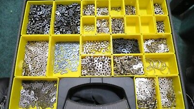 Roller Chain Parts Links Rollers Lot #35 #41 Huge Lot Nickel Plated Chain