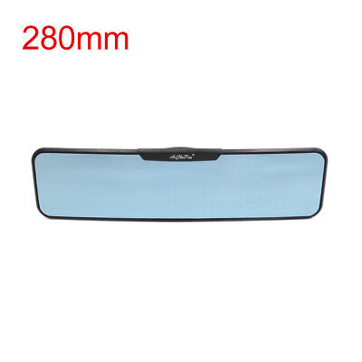 280mm Blue Glass Curved Panoramic Wide Angle Rear View Mirror for Car Interior