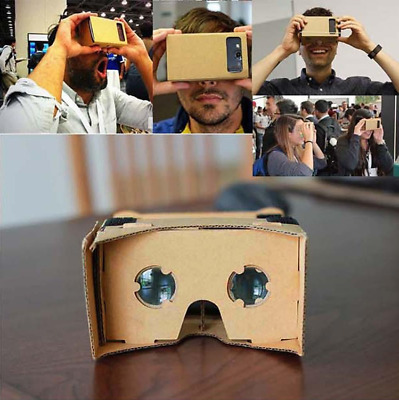 DIY Cardboard 3D VR Virtual Reality Google Headset Movie Games Glasses for Phone