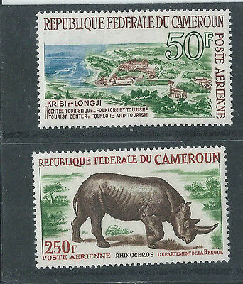 Cameroon - 1964 Folklore & Tourism - Two different Airmail values - Mounted mint
