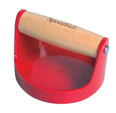 Speedball Wood Handle Baren for Block Printing, 4 Inches, Red