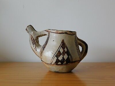 Ancient Aztec Mexican Maya Terracotta Pottery Tea Pot Ewer