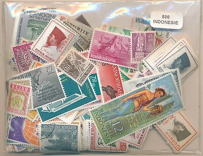 Indonesia US Package 500 stamps different
