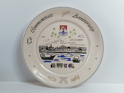 Plate to Commemorate the 50th Anniversary of Arklow Pottery Limited 1934-1984