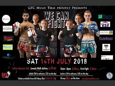 Tickets to watch local & explosive Muay Thai Boxing show - We Can Fight!