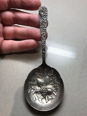S. Kirk & Son Sterling REPOUSSE BERRY SERVING SPOON
