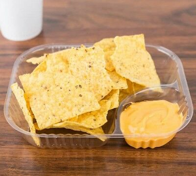 Dart ClearPac Container  NEW Large Nacho Trays Clear - Case of 500 model C68NT2