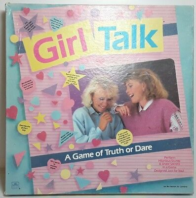 Girl Talk boardgame board game toy Vintage 1988 1980s