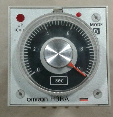 Omron H3BA Timer 200/220/240VAC with Socket Base 2-M4X30 #012A13