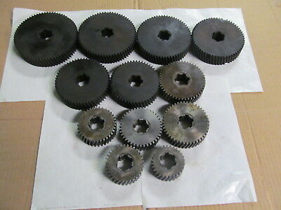 Set Of Spindle Speed Gears For Brown & Sharpe Screw Machine (12) Gears, Usa Made