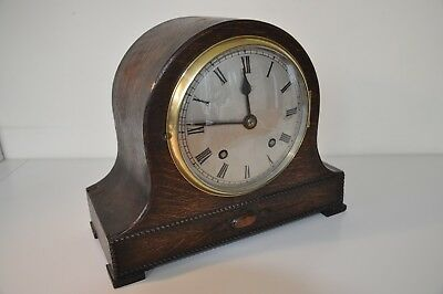 Wooden Antique English Mantle Clock with pendulum