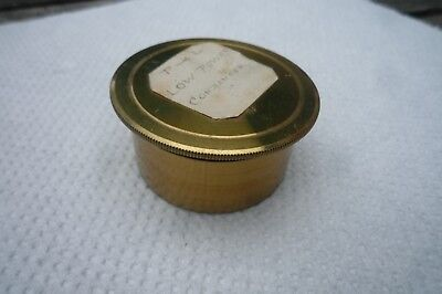 Brass box with illumination discs for a Powell & Lealand microscope condenser